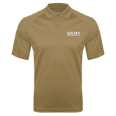 Vegas Gold Textured Saddle Shoulder Polo-Golden Grizzlies Stacked