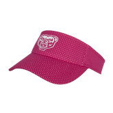 Pink Athletic Mesh Visor-Grizzly Head