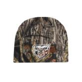 Mossy Oak Camo Fleece Beanie-Grizzly Head
