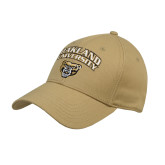 Vegas Gold Heavyweight Twill Pro Style Hat-Oakland University with Grizzly Head