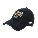 Adidas Black Slouch Unstructured Low Profile Hat-Grizzly Head