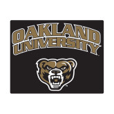 Small Magnet-Oakland University with Grizzly Head, 6 inches wide