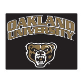 Medium Magnet-Oakland University with Grizzly Head, 8 inches wide