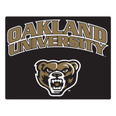 Large Magnet-Oakland University with Grizzly Head, 12 inches wide