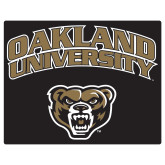 Extra Large Magnet-Oakland University with Grizzly Head, 18 inches wide