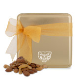 Deluxe Nut Medley Gold Medium Tin-Grizzly Head Engraved