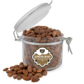 Almond Bliss Round Canister-Grizzly Head
