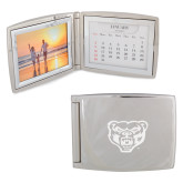 Silver Bifold Frame w/Calendar-Grizzly Head Engraved