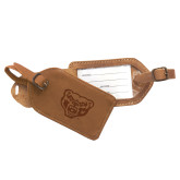 Canyon Barranca Tan Luggage Tag-Grizzly Head Engraved