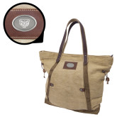 Canyon Ashton Linen Tote-Grizzly Head Engraved