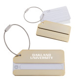 Gold Luggage Tag-Oakland University Engraved