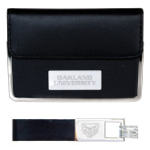 Business Card Case and Key Ring Set Black-Oakland University Engraved