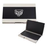 Bey Berk Carbon Fiber Business Card Holder-Grizzly Head Engraved