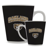 Full Color Latte Mug 12oz-Oakland University with Grizzly Head