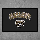 Full Color Indoor Floor Mat-Oakland University with Grizzly Head
