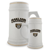Full Color Decorative Ceramic Mug 22oz-Oakland University with Grizzly Head