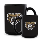 Full Color Black Mug 15oz-Grizzly Head