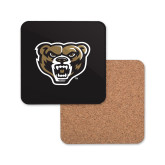 Hardboard Coaster w/Cork Backing-Grizzly Head
