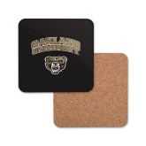 Hardboard Coaster w/Cork Backing-Oakland University with Grizzly Head