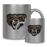 Full Color Silver Metallic Mug 11oz-Grizzly Head