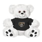 Plush Big Paw 8 1/2 inch White Bear w/Black Shirt-Grizzly Head