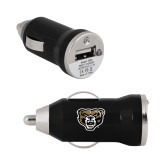 On the Go Black Car Charger-Grizzly Head