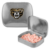 Silver Rectangular Peppermint Tin-Grizzly Head