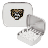 White Rectangular Peppermint Tin-Grizzly Head