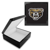 Ebony Black Accessory Box With 6 x 6 Tile-Grizzly Head