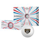 Nike One Vapor Black Golf Balls 12/pkg-Arched Oakland w/ Grizzly Head