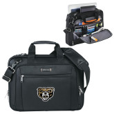 Kenneth Cole Black Vertical Checkpoint Friendly Messenger-Grizzly Head