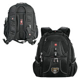 Wenger Swiss Army Mega Black Compu Backpack-Grizzly Head