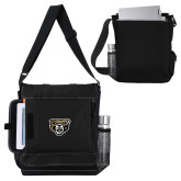 Impact Vertical Black Computer Messenger Bag-Grizzly Head
