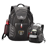 High Sierra Big Wig Black Compu Backpack-Grizzly Head