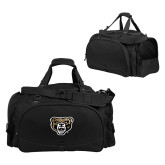 Challenger Team Black Sport Bag-Grizzly Head
