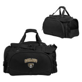 Challenger Team Black Sport Bag-Oakland University with Grizzly Head