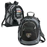High Sierra Black Fat Boy Day Pack-Grizzly Head