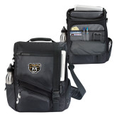 Momentum Black Computer Messenger Bag-Grizzly Head