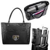 Sophia Checkpoint Friendly Black Compu Tote-Grizzly Head