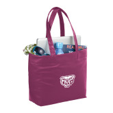 Fine Society Berry Computer Tote-Grizzly Head