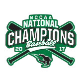 Medium Decal-2017 NCCAA National Champions - Baseball Crossed Bats