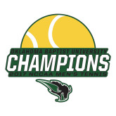 Large Decal-NCCAA Mens Tennis Champions 2017 - Half Ball