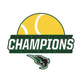 Small Decal-NCCAA Mens Tennis Champions 2017 - Half Ball