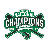 Small Decal-2017 NCCAA National Champions - Baseball Crossed Bats