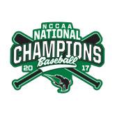 Small Decal-2017 NCCAA National Champions - Baseball Crossed Bats
