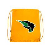 Gold Drawstring Backpack-Power Bison