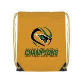Gold Drawstring Backpack-NCCAA Mens Tennis Champions 2017