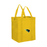 Non Woven Gold Grocery Tote-Power Bison