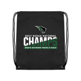 Black Drawstring Backpack-NCCAA National Champions Mens Outdoor Track and Field
