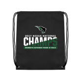Black Drawstring Backpack-NCCAA National Champions Womens Outdoor Track and Field
